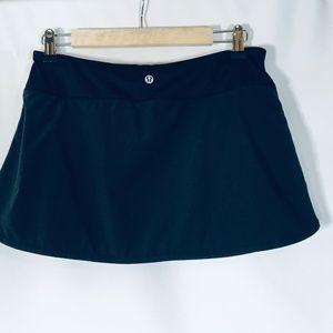 "Lululemon tennis skirt black 6"""
